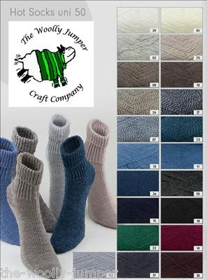 007 - BLUE GREY WHITE TWIST - GRUNDL HOT SOCKS UNI 50 4 PLY - KNITTING YARN - FREE PATTERN